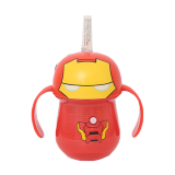 Marvel Ironman Straw Cup with Handles - 1PCS