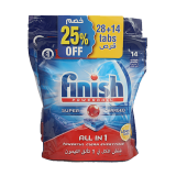 All in 1 Dishwasher Detergent Lemon Powerball - 24 count