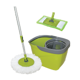 Spin Mop with Round and Flat Heads - 1PCS