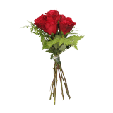 Red Rose Bouquet - 6 count