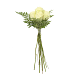 White Rose Bouquet - 6 count