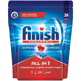 Finish All-in-1 Super Charged Powerball Dishwasher Detergent Tablets  Original - 28 Tablets