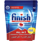 Finish All-in-1 Powerball Dishwasher Detergent Tablets Lemon - 42 Tablets