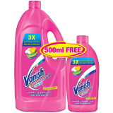 Vanish Pink Liquid Stain Remover Multi Use - 1.8L + 500 Ml Pink