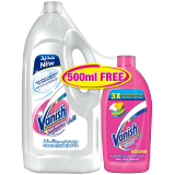 Vanish For Whites + Vanish Multi Use -  1.8L + 500 Ml