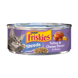 Friskies Wet Cat Food Turkey & Cheese - 156G
