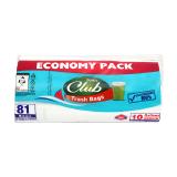 Sanita Club Trash Bags Economy Pack 10 Gallons Medium - 81 Bags