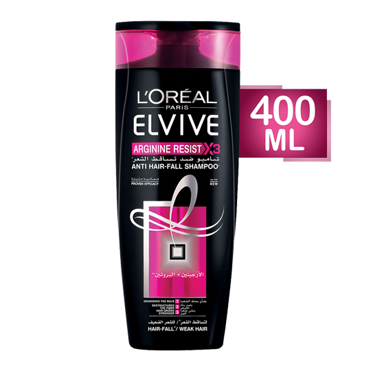 Elvive Arginine Resist X3 Anti Hair-Fall Shampoo - 400 Ml