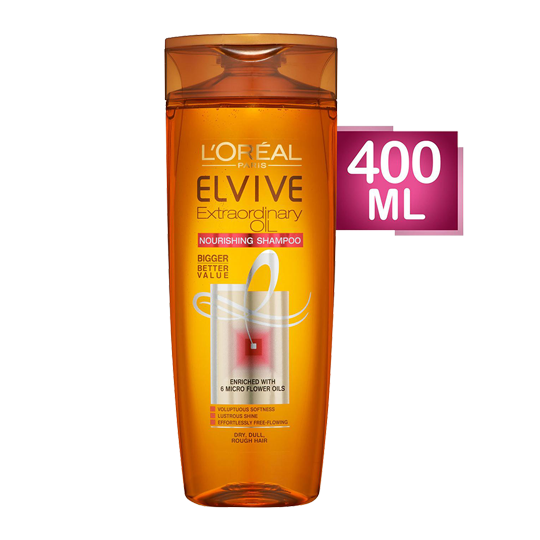 Elvive Extraordinary Oil Shampoo For Dry To Very Dry Hair - 400 Ml