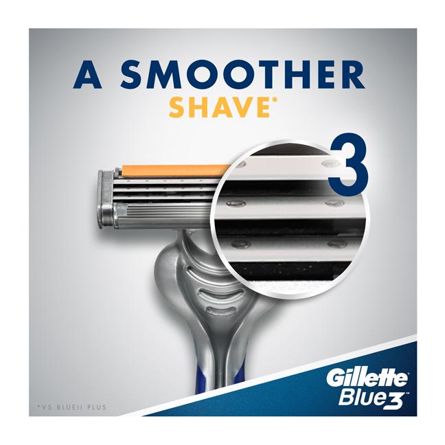Blue 3 Disposable Shaving Razor For Men -  3 Count