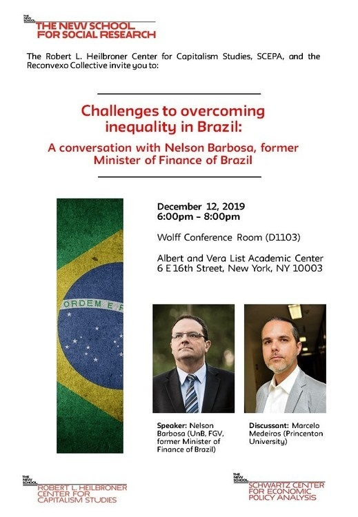 Challenges to overcoming inequality in Brazil: A conversation with Nelson Barbosa, former Minister of Finance of Brazil