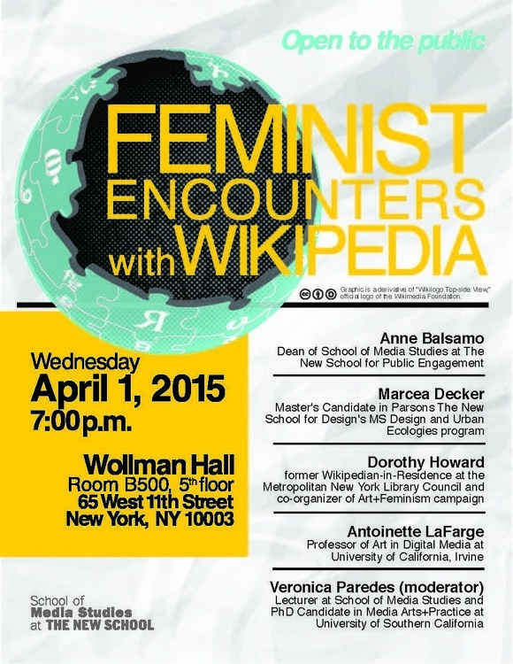 Feminist Encounters with Wikipedia Panel Discussion
