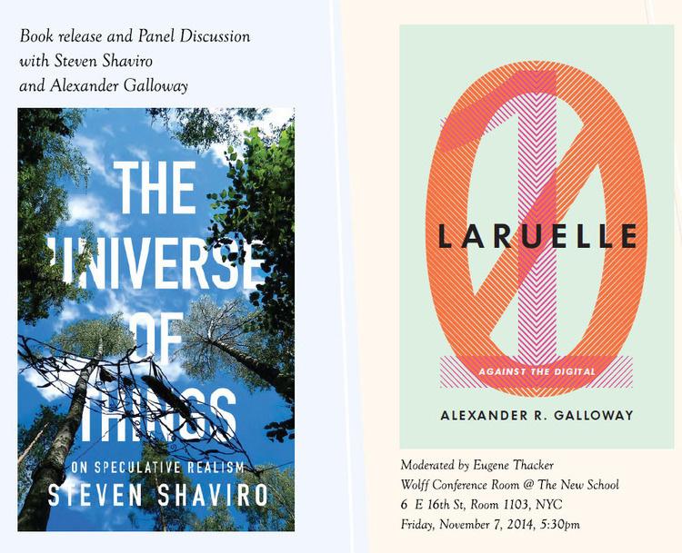 Speculative Futures: A Conversation with Steven Shaviro & Alexander Galloway