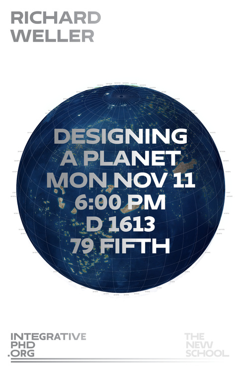 """Integrative PhD Lecture, """"Designing a Planet"""""""