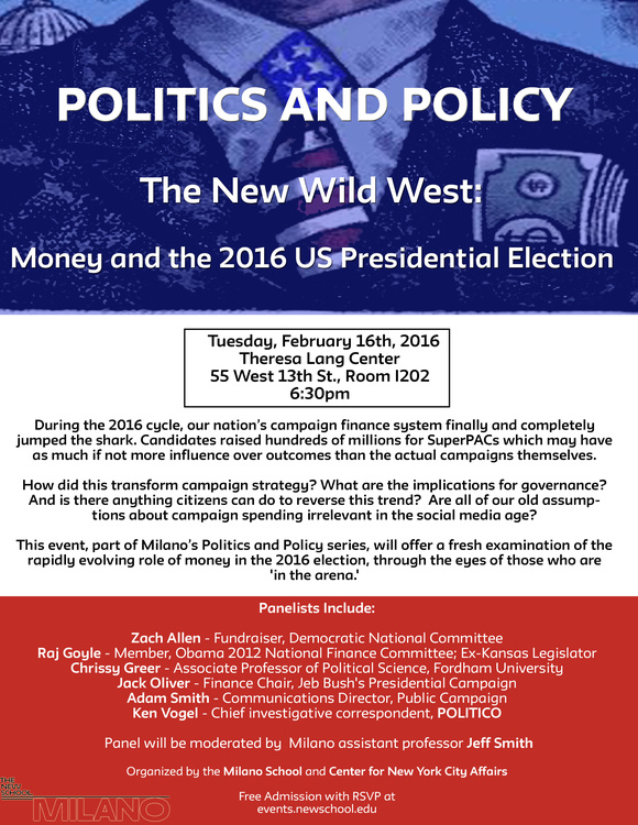 Politics and Policy Series - The New Wild West: Money and the 2016 US Presidential Election