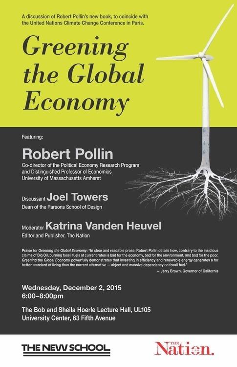 Greening the Global Economy: Robert Pollin