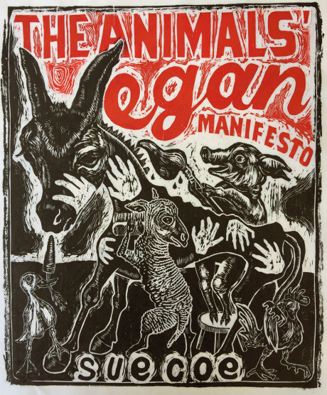 "New York Comics & Picture-Story Symposium: Sue Coe on her new book,""The Animals' Vegan Manifesto"""