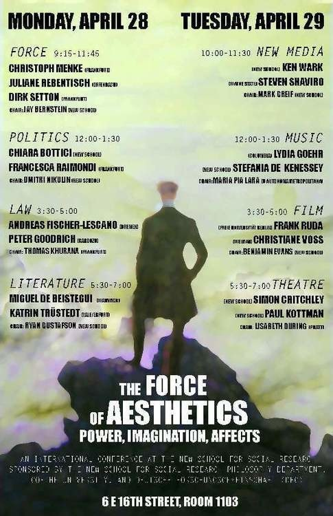 The Force of Aesthetics: Power,Imagination, Affects: An International Conference