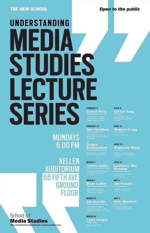"""Understanding Media Studies: """"Curating Media: Idea Combustion as Knowledge Production"""" with Chi-hui Yang"""