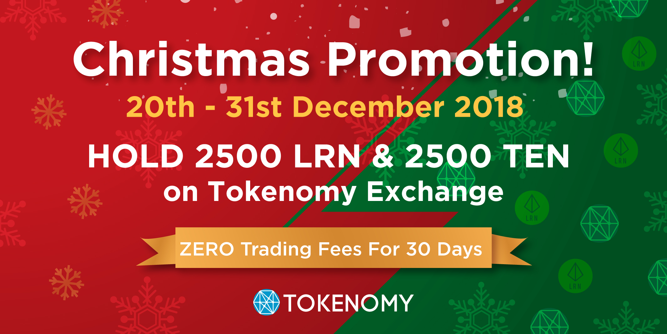 Tokenomy Exchange Christmas Promotion