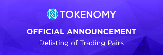 Delisting of Trading Pairs