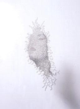 Hideyuki Sawayanagi 'Extatic' (2006), Aluminium, gesso, 565 x 440 x 2mm