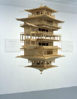 Takahiro Iwasaki, 'Reflection Model' (2001) 115 x 90 x 60 cm, Japanese cypress and wire