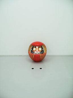 Iichiro Tanaka, 'Drop-eyed DARUMA' (2002) dimensions variable, mixed media