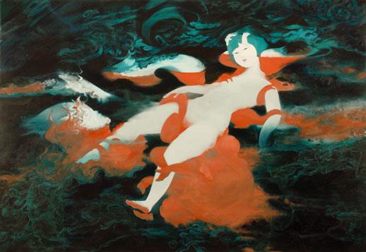 Akino Kondoh, 'Flesh' (2008) Oil on canvas, 112 x 162cm