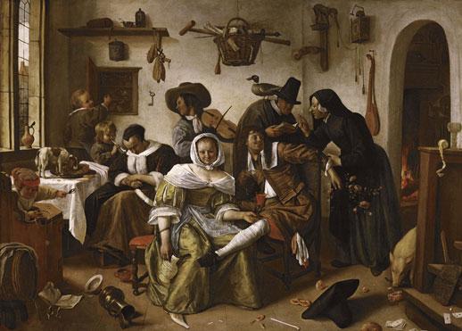Jan Steen, 'Beware of Luxury' (1663) Oil on canvas, 105 x 145cm