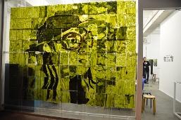 Richard Streitmatter-Tran, 'L'amant Vert, The Green Lover (After Marguerite Duras)' (2009) Wakame, nori, plastic 240x325cm