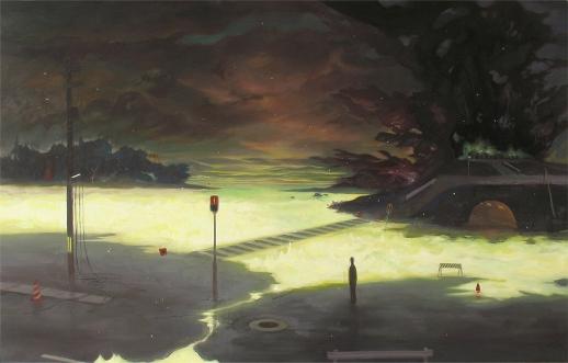 Hiroshi Yoshida, 'Enrai (Faraway Thunder)' (2009) Oil and acrylic on panel, 70.8x111cm