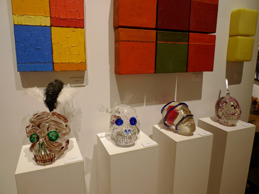 Glass skulls by Erik Dietman at the Berengo Collection booth