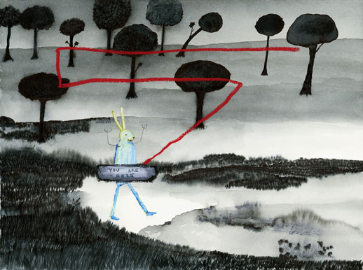 John Lurie, 'You Are Here' (2008)