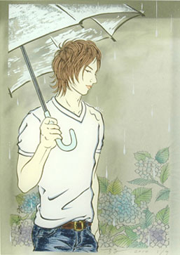 Ryoko Kimura, 'Aiaigaza' (Under an Umbrella Together) 280 x 210mm