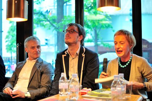 From left: Helmut Weber, Markus Schinwald and Aglaia Konrad.