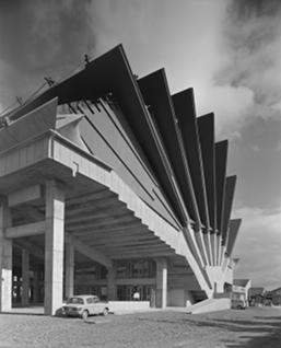 Kiyonori Kikutake, 'Miyakonojo Civic Center' (1966) Miyazaki, Japan