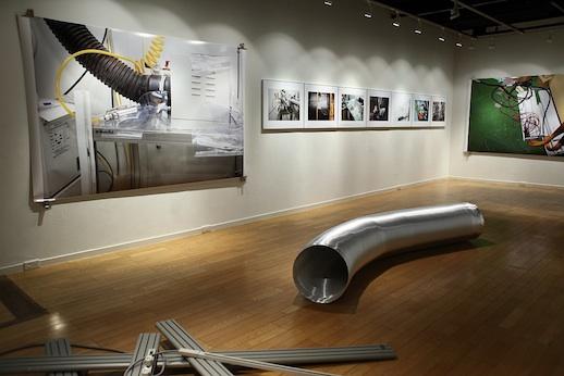 Installation view. Naoyuki Hata, 'Pelletron new no.4' (2011)