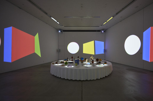 Cornelius and tha ltd. 'Room of Objects, Sounds and Movies'. Installation view. Courtesy 21_21 Design Sight.