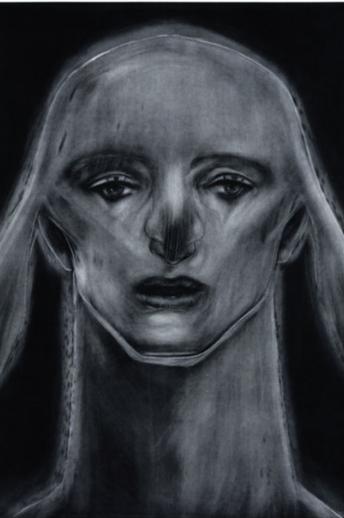 Katsura Funakoshi, 'The Sphinx Watching an Aurora'(2013) Mezzotint.