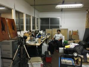 Yuki Shibata in his studio