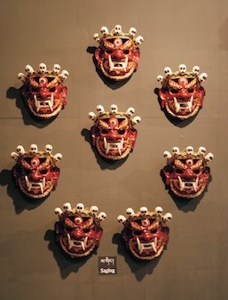 Masks of Ging Cham ©National Museum of Bhutan