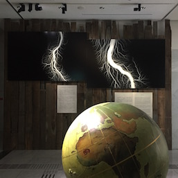 Hiroshi Sugimoto, Globe (Stage Prop for the Comédie-Française Theater) 1990, 'Lightening Fields' (2009)