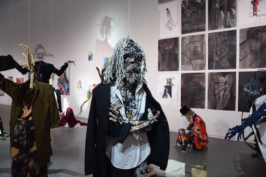 Yohji Yamamoto + Yuka Asakura 'Painting and Weaving Opportunity' Installation View