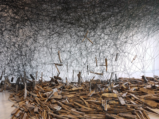 Chiharu Shiota, 'Form of Memory' 2018 (detail)