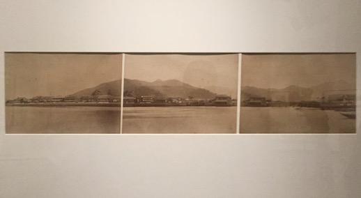 Hikoma Ueno (?), Panorama of Dejima from sea (1874), Albumen Print, Nagasaki University Library – Central Library