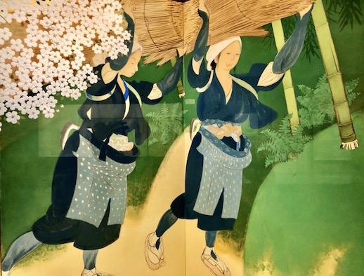 Bakusen Tsuchida, 'Oharame Women Peddlers' (Partial) (1915), Yamatane Museum of Art