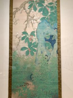 Jippo Araki 'Kantei Soshun' (1922) color on silk hanging scroll, 233.0x100.4 cm, Nerima Art Museum Collection