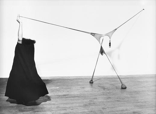 Senga Nengudi, 'Studio Performance with R.S.V.P.' (1976), Gelatin silver print, Courtesy: Sprüth Magers and Thomas Erben Gallery
