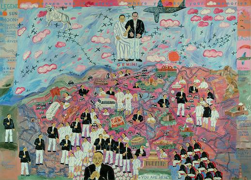 Arpita Singh, 'My Lollipop City; Gemini Rising' (2005), Oil on canvas, 152.4 x 213.3 cm, Collection: Vadehra Art Gallery, New Delhi